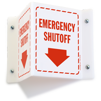 Emergency Shutoff Sign