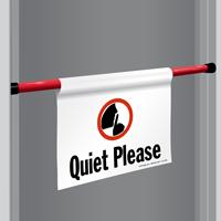 Quiet Please Door Barricade Sign