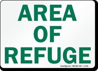 Area of Refuge Sign
