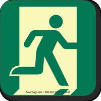 GlowSmart™ Running Man, Emergency Exit Right