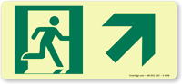 Glowsmart™ Directional Emergency Sign, Arrow Up Sign