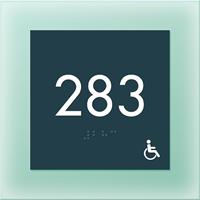 Room Number Sign w/ISA Symbol