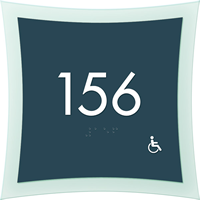 Room Number Sign, Graphic