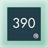 Room Number Sign w/NS Symbol