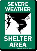 Severe Shelter Area Sign
