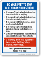 Stop Bullying In Your School Sign