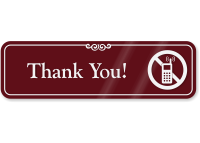 Thank You Engraved Sign
