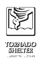 Tornado Shelter Tactiletouch Braille Sign