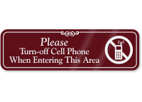 Please Turn-Off Cell Phone Sign