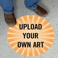 Upload Your Own Art Custom SlipSafe Floor Sign