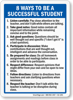 Ways To Be Successful Student Sign
