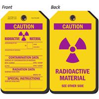 Caution Radioactive Material Contamination Data Tag