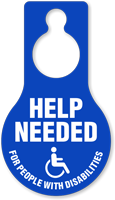 Help Needed People With Disabilities Hang Tag