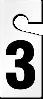 3 Numbered Door Hanger