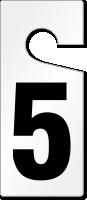 5 Numbered Door Hanger