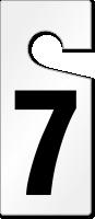 7 Numbered Door Hanger