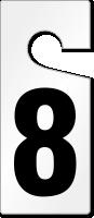 8 Numbered Door Hanger