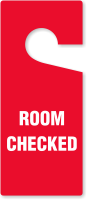 Room Checked Door Hang Tag