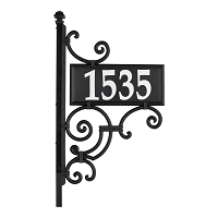 Nite Bright Ironwork Reflective Address Post Sign