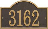 Fast And Easy Arch House Number Plaque