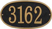 Fast And Easy Oval House Number Plaque