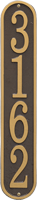 Fast And Easy Vertical House Number Plaque