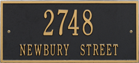 Hartford Standard Two Lines Wall Plaque