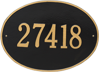 Hawthorne Oval Estate Wall Address Plaque, One Line