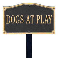 Dogs at Play Statement Lawn Plaque