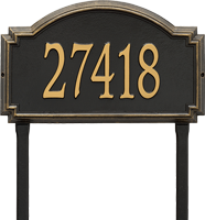 Williamsburg Estate Lawn Address Plaque, One Line