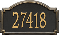 Williamsburg Estate Wall Address Plaque, One Line
