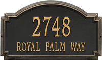Williamsburg Estate Wall Address Plaque, Two Lines