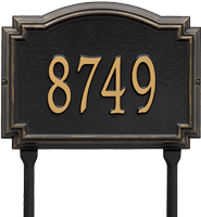 Williamsburg Standard Lawn Address Plaque, One Line