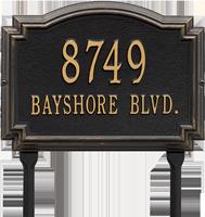 Williamsburg Standard Lawn Address Plaque, Two Lines