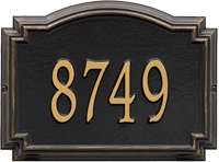 Williamsburg Standard Wall Address Plaque, One Line