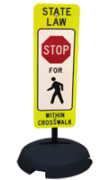 State Law Pedestrians Stop Traffic Sign and Post Kit