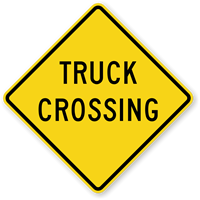 Truck Crossing - Road Warning Sign