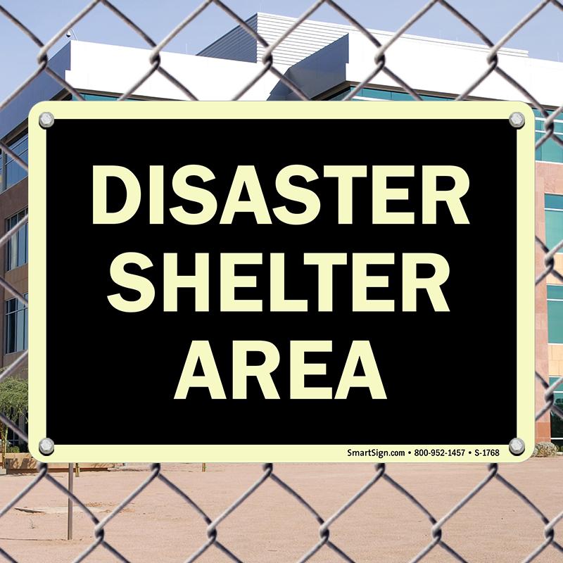 Disaster Shelter Area Evacuation Sign Sku S2 1768