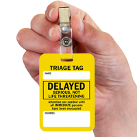 Delayed Serious, Not Life Threatening Triage Tags