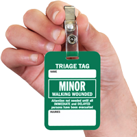 Minor Walking Wounded Triage Tags
