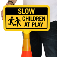 Children At Play ConeBoss Sign