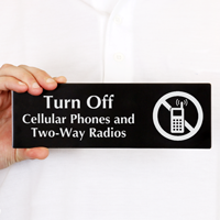 Turn off Cellular Phones Sign