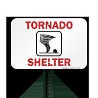 Emergency Tornado Shelter Sign