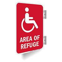 Area Of Refuge Double Sided Sign