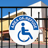 Area Of Refuge, With handicapped Graphic