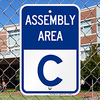 Assembly Area C Sign