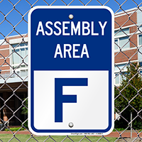 Assembly Area F Sign