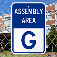 Assembly Area G Sign