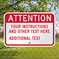 Custom Attention Sign