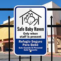 Bilingual Safe Haven Sign